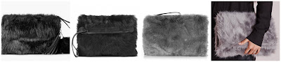 Faux Fur Textured Clutch • MANGO • $49.99 Helmut Lang Fox Fur Clutch • Helmut Lang • $295 Faux Fur Clutch Grey • Missguided • $34 Fur Pouch • Oasis • $45
