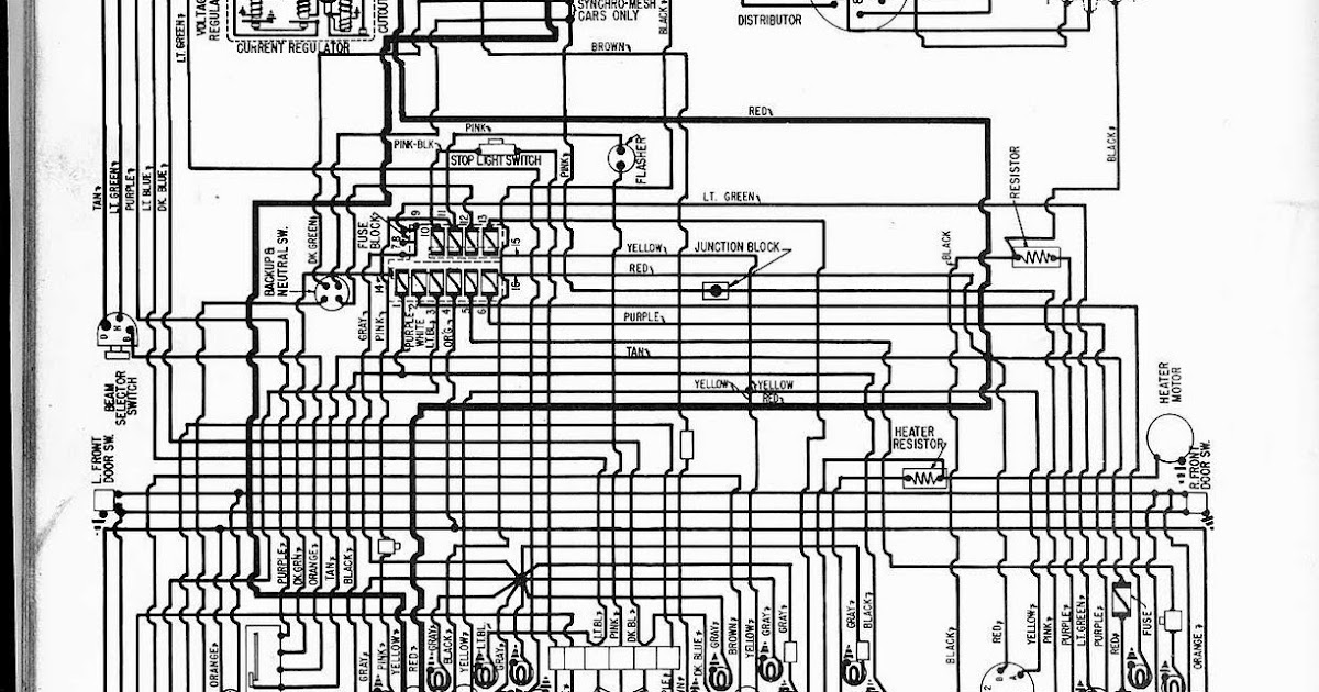 Free Auto Wiring Diagram: 1957 Pontiac Wiring Diagram