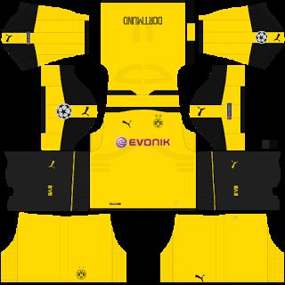 879c2a9fd Borussia Dortmund Champion league Kits 2016 2017 - Dream League ...