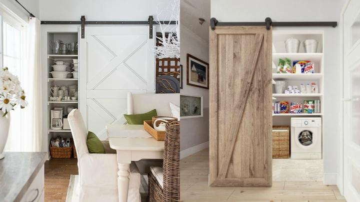 Marzua decorar con puertas granero for Decorar puertas viejas de interior