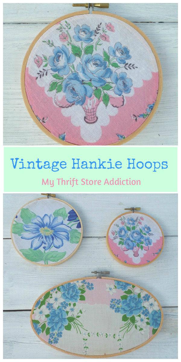 vintage hankie hoops
