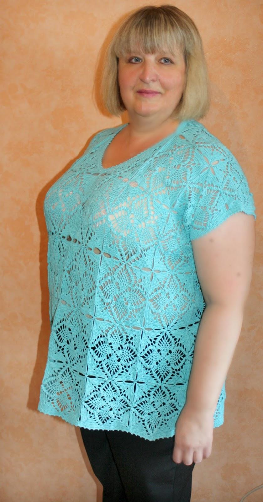 платья вязанные крючком фото и схемы для женщин полных