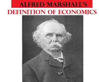 Alfred Marshall's definition of economics