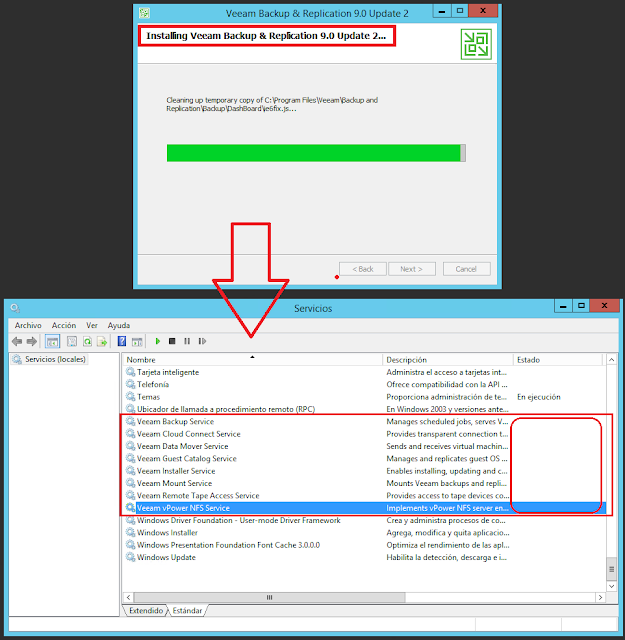 Servicios de Veeam Backup & Replication 9