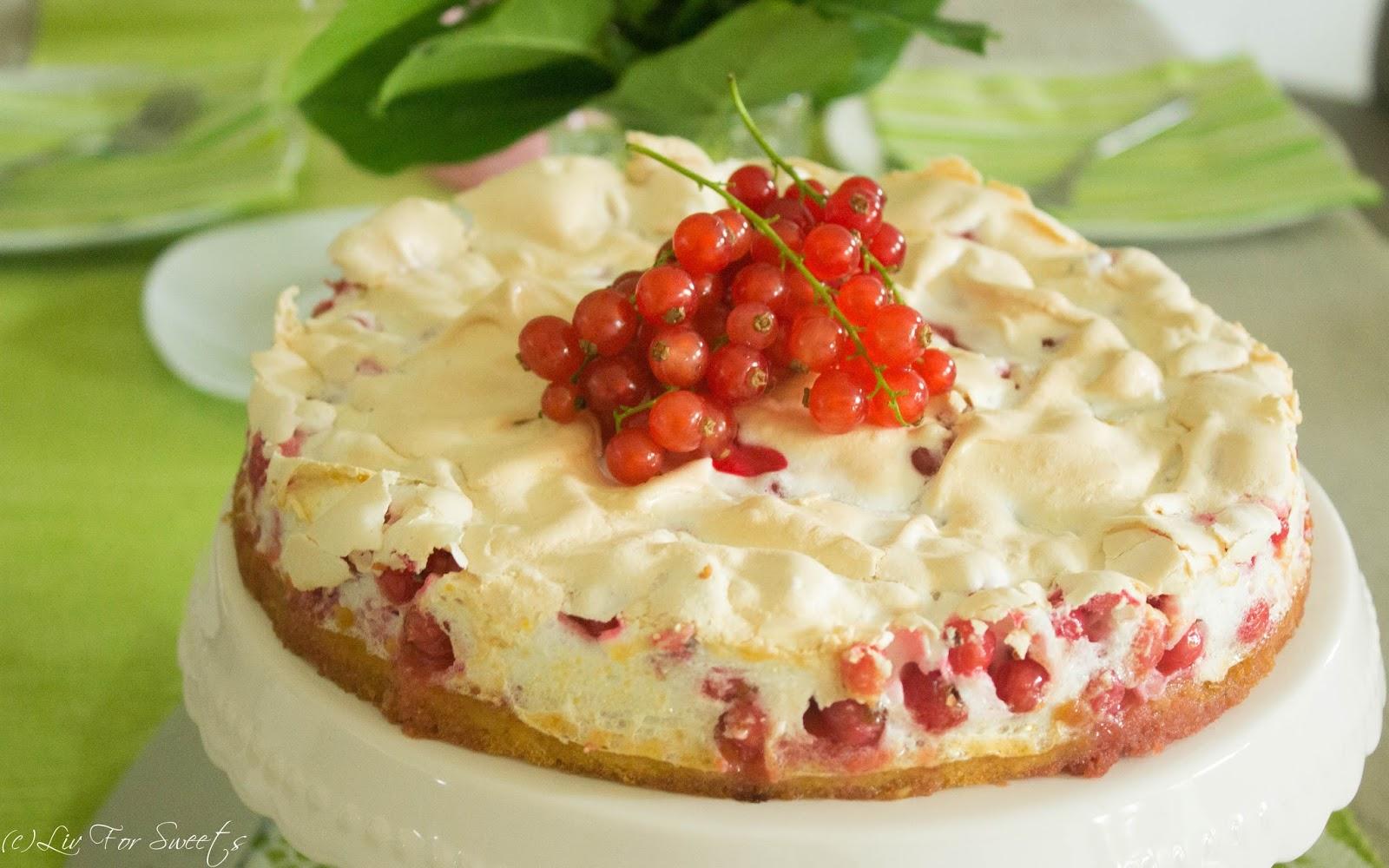 Liv For Sweets Johannisbeer Baiser Torte