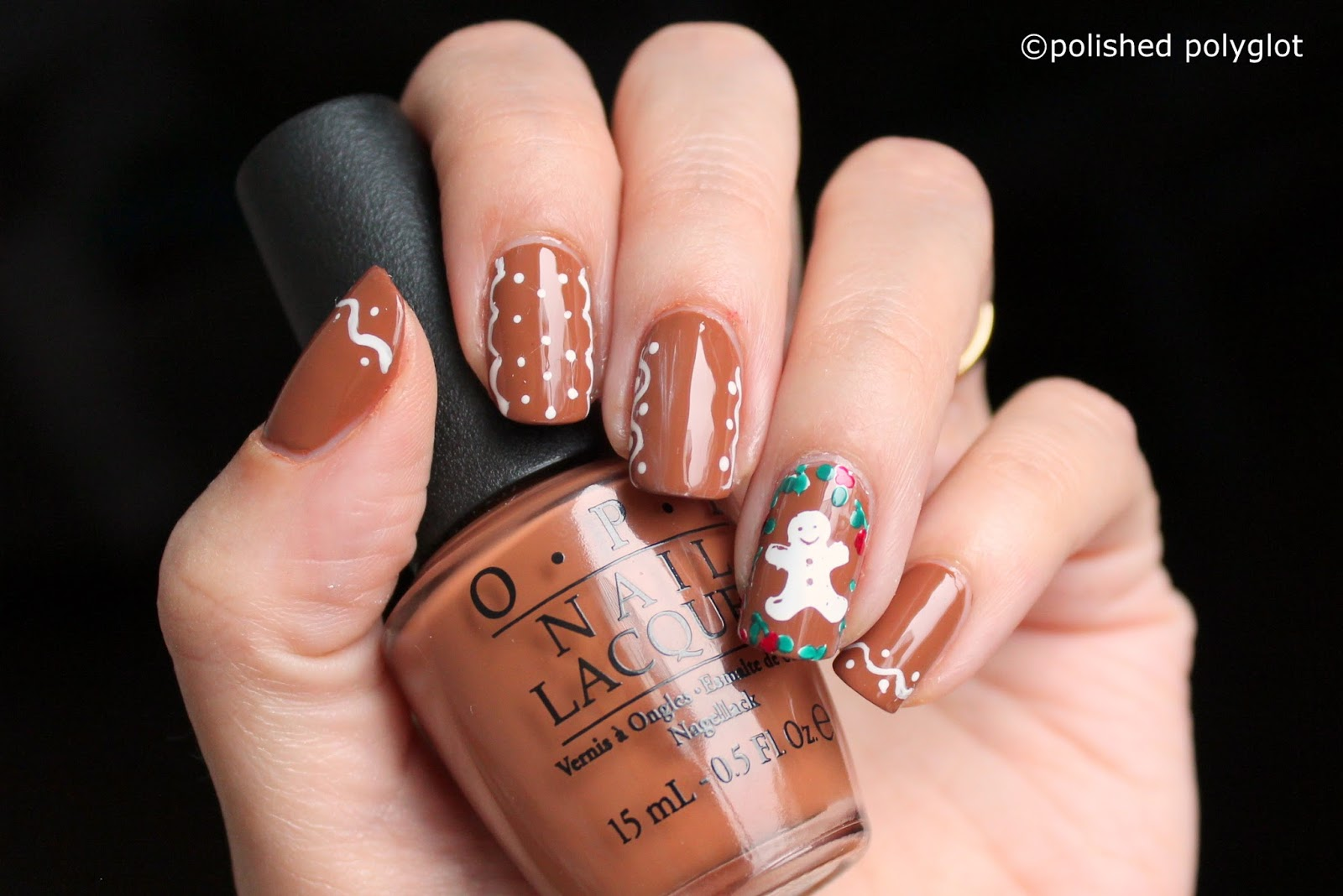 Nail art │ Christmas preprations: Biscuits on my nails! [26GNAI ...
