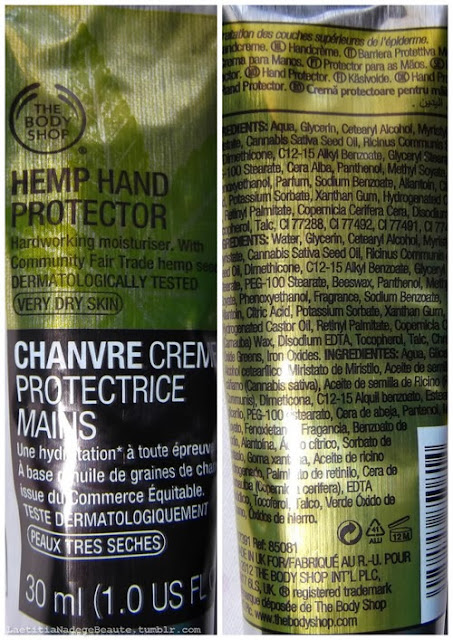 THE BODY SHOP Chanvre Crème Protectrice Mains