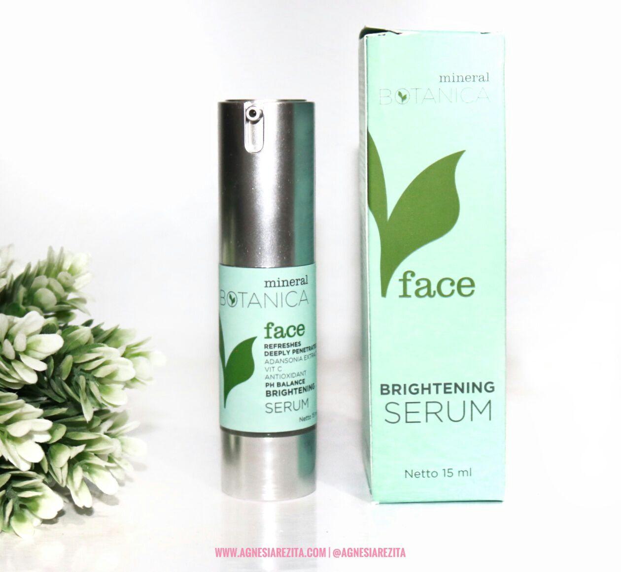Mineral Botanica Face Brightening Series Micellar Cleansing Water Whitening Plus Complex Day Cream Serum