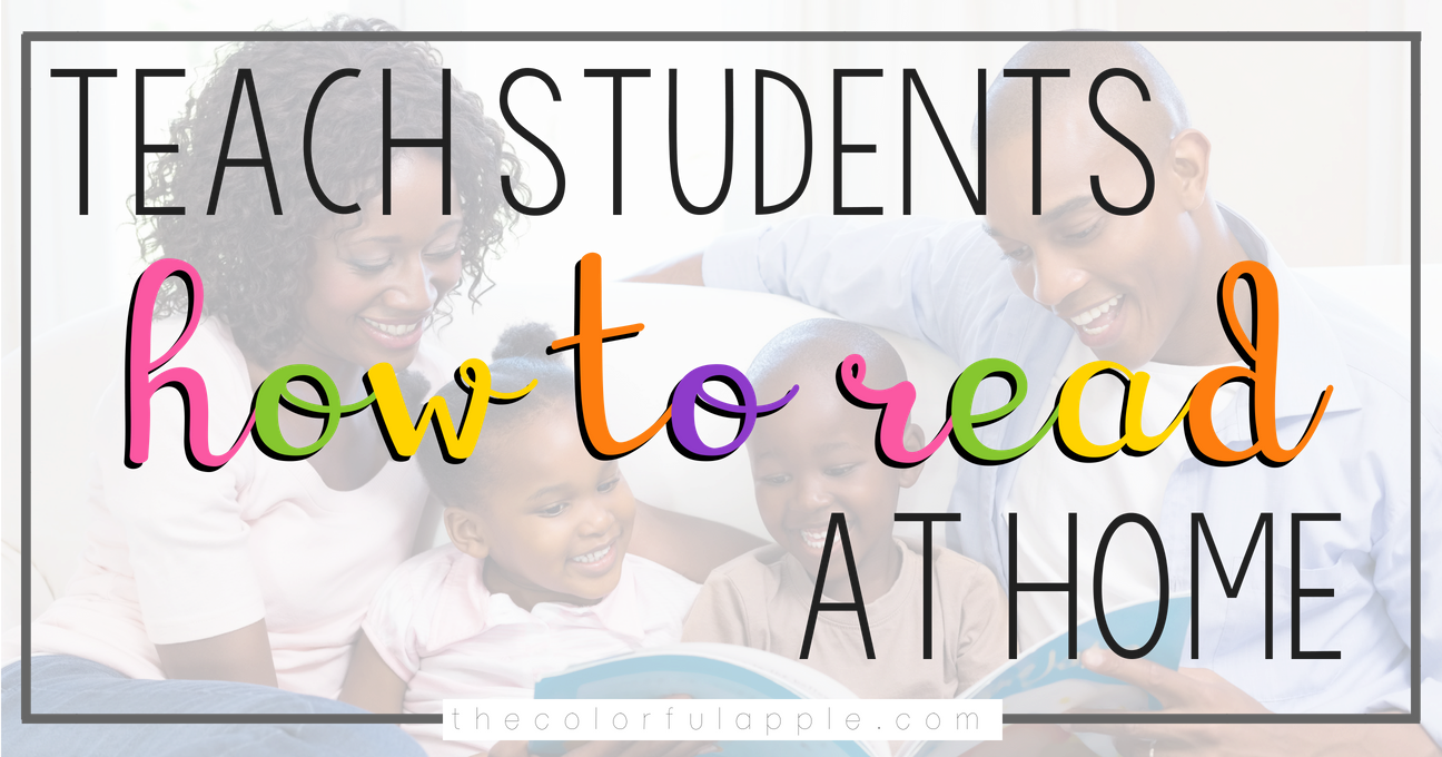 Students are great readers at skill, but what happens when they go home?  Teaching them to read at home is such an important skill!  This is a great lesson to guide students on how to read outside of school.