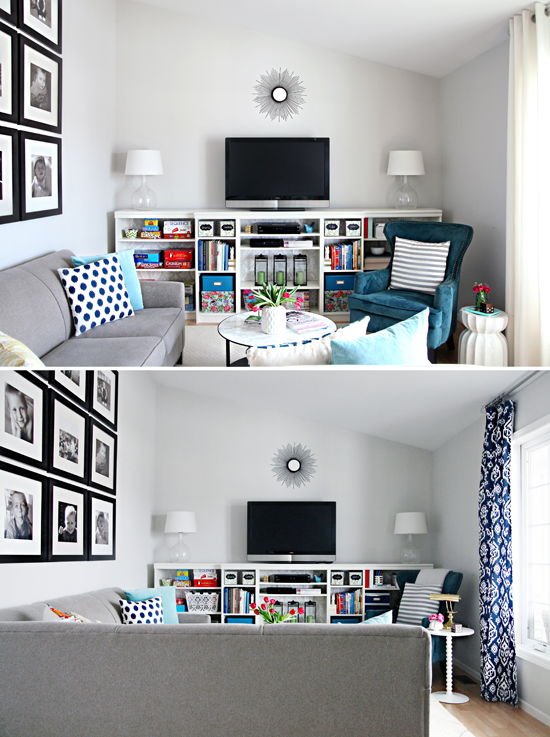 organizing a living room side tables for with drawers iheart hooked on navy