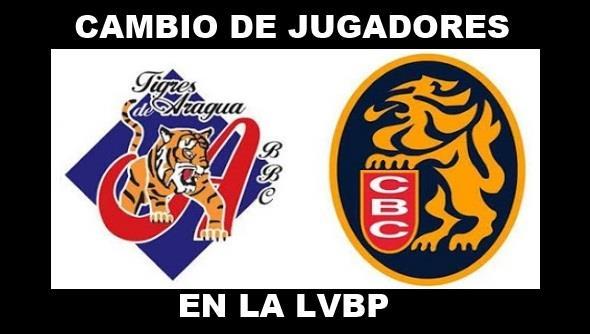 #Leones realizo cambio de jugadores con #Tigres de Aragua  ... Numeros ambos