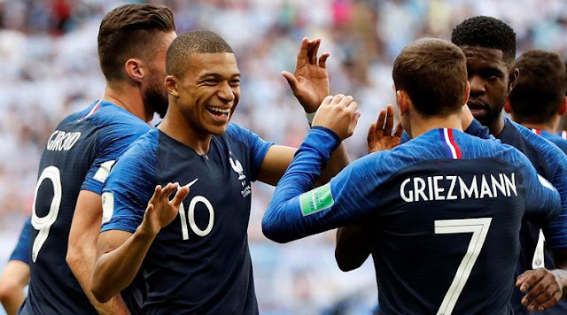 Kylian Mbappe (10) became the first teenager to score multiple goals in a World Cup tournament since Michael Owen for England in 199