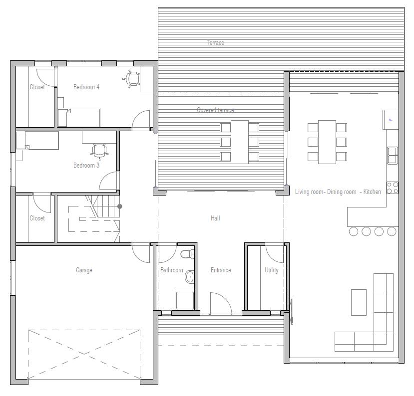 . CH285 Modern Beach House Plan   Beach House Plans