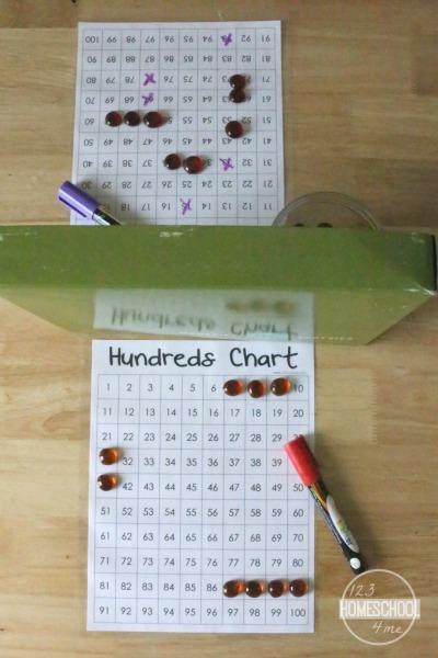 Hundreds Chart Math Games for Kindergarten, 1st grade, 2nd grade, 3rd grade