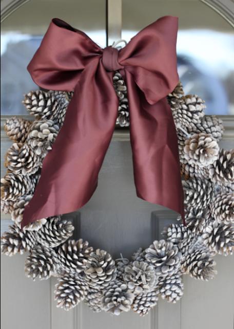 Seashell Pine Cone Wreath Pine Cone Wreath Birthday Pine Cone Wreath
