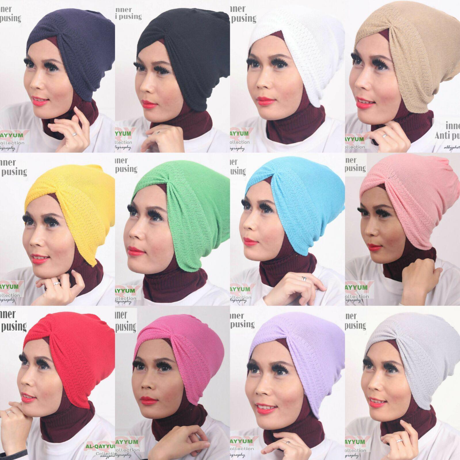 Solusi Tampil Cantik Dan Modis Sesuai Syariah Inner Anti Pusing By Umama Noor Hijab Jilbab Kerudung Segiempat Al Qayyum
