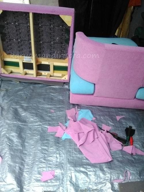 pemasangan kain cover