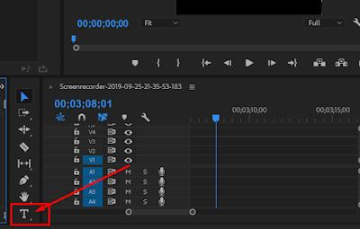 Cara Menambahkan Text atau Tulisan Di Adobe Premiere Pro CC 2018