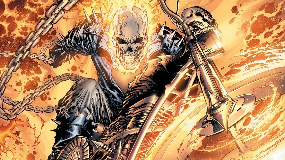 Ghost, Rdier, Johnny Blaze, Marvel, Comics, 4K, #4.2952