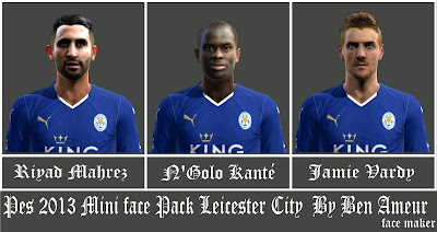 Pes 2013 Mini Face Pack Leicester City By Ben Ameur