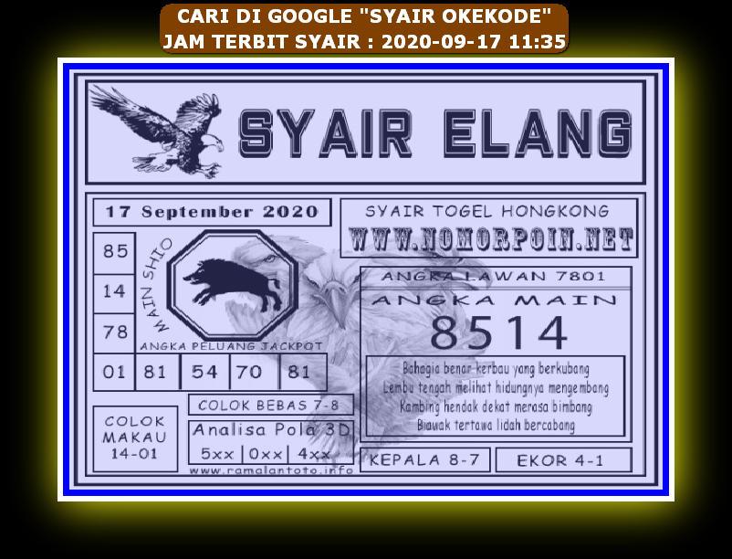 Kode syair Hongkong Kamis 17 September 2020 232