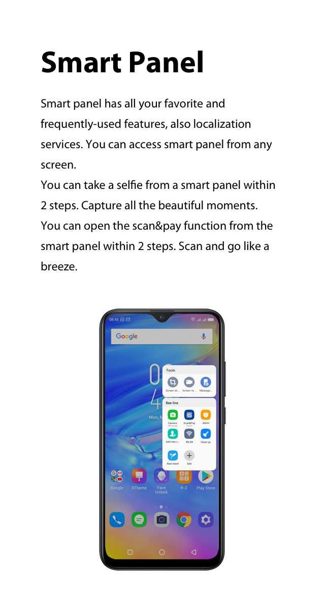 XOS 5.0 Cheetah Smart Panel