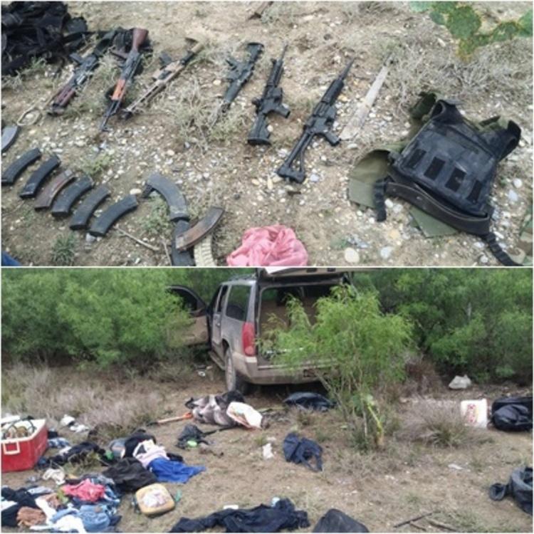 ¿Listos pa´l topon?, sicarios huyen despavoridos y abandonan Yukón y arsenal de persecución policíaca
