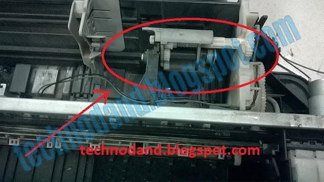 Cara memperbaiki printer EPSON L100 / L200 / T13 tidak bisa menarik kertas
