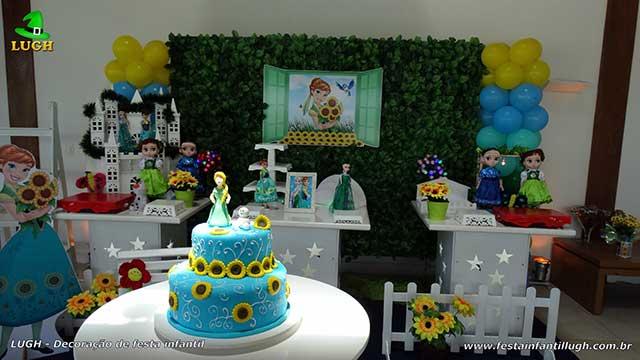 Decoração provençal Frozen - Febre Congelante para festa de aniversário infantil