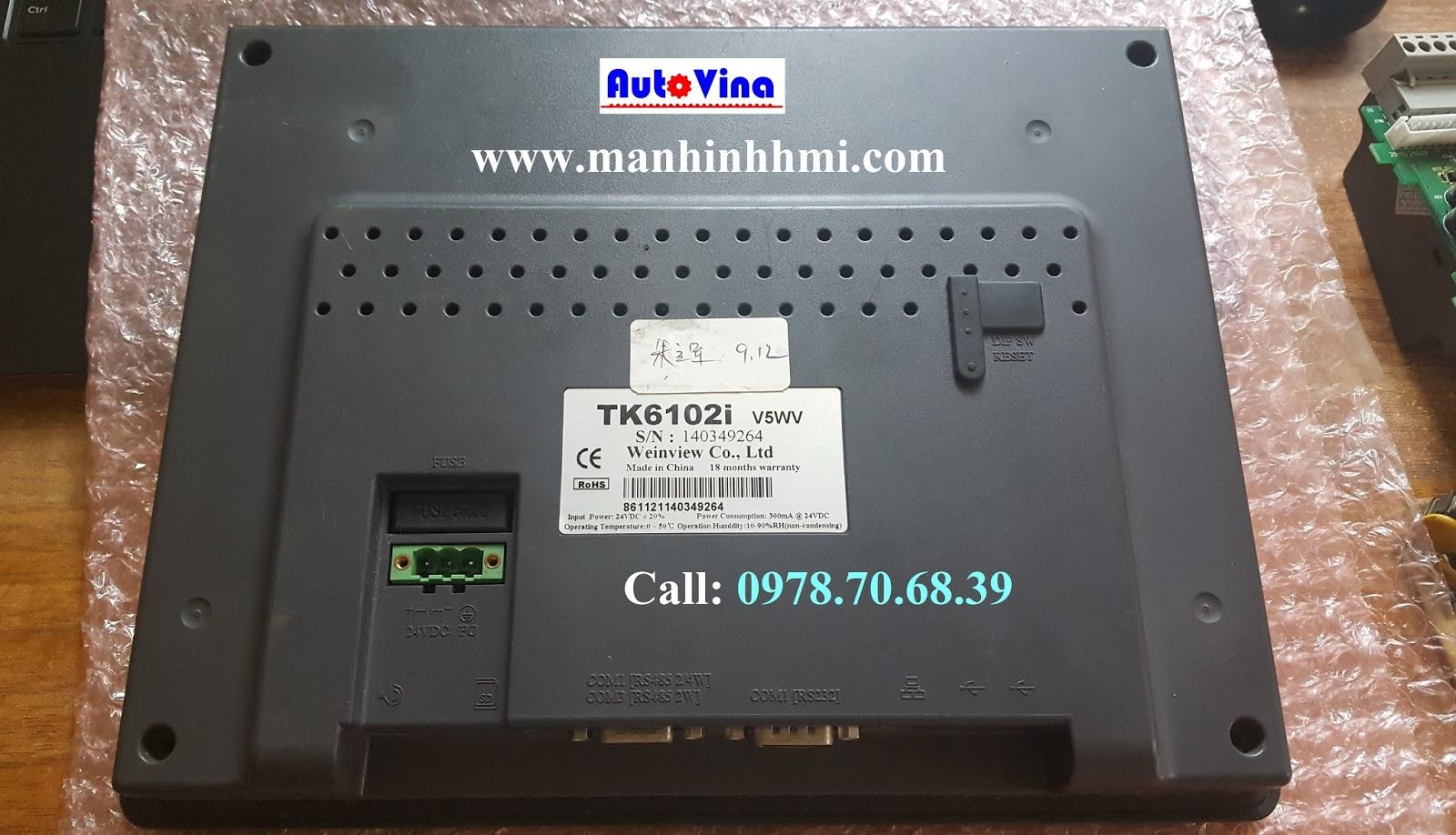 Trung tâm bảo hành sửa chữa màn hình cảm ứng HMI Weinview 10 inch TK6102i