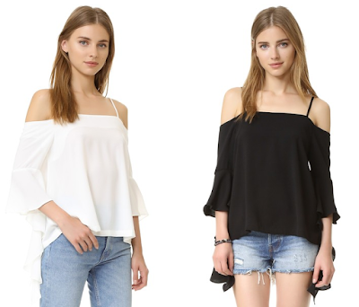 re:named Cascade Sleeve Cold Shoulder Top $33 (reg $47)