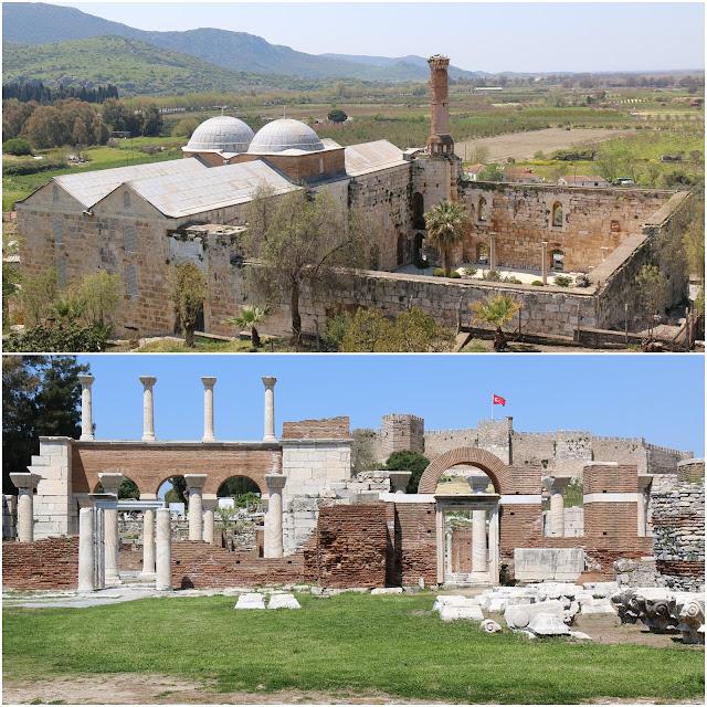 The Basilica of St John is on the slopes of Ayasoluk Hill near the center of Selçuk, just below the fortress and about 3.5 km from Ephesus in Kusadasi, Turkey