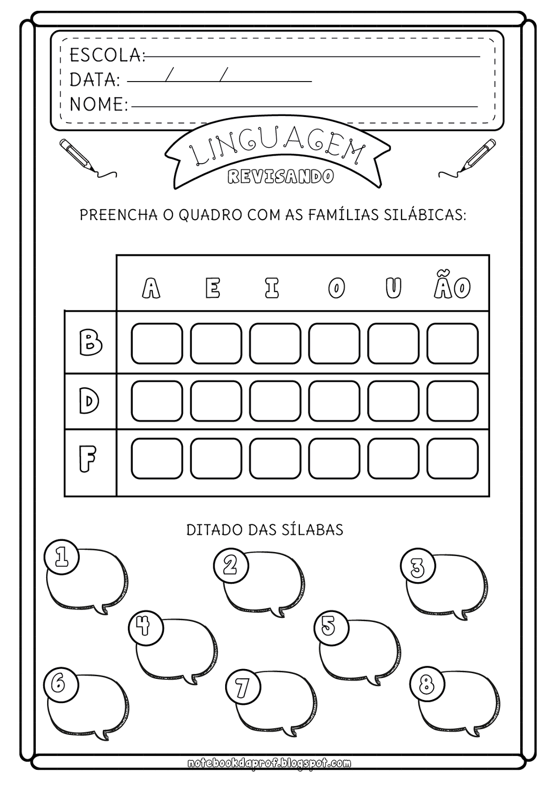 Notebook Da Profa Atividades Revisao