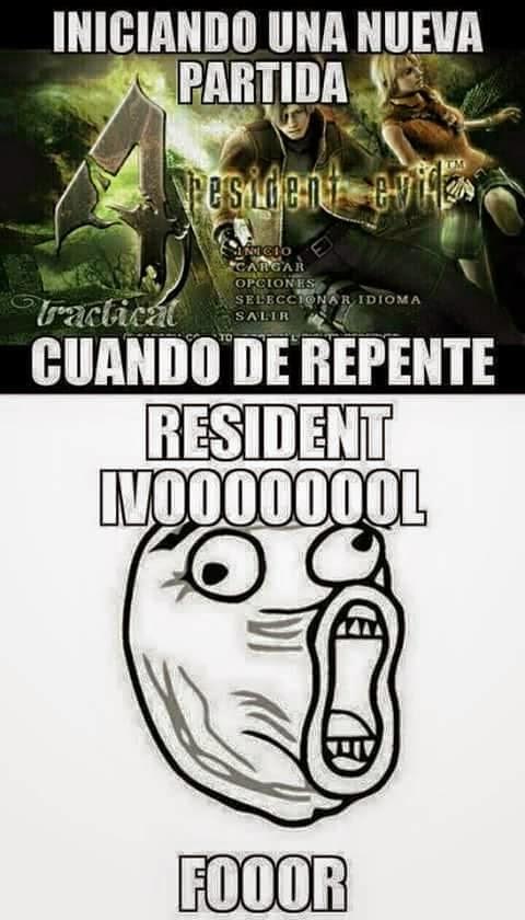 Como Pronuncio el inicio de Resident evil 4
