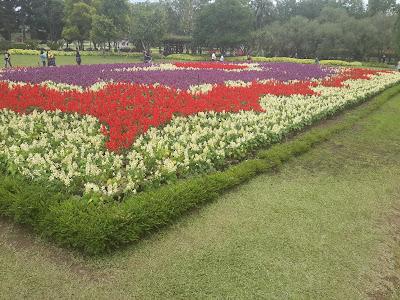 Beautifull flower landscaping at Taman Bunga Nusantara