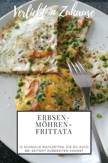 Erbsen-Möhren-Frittata Rezept -12 schnelle Mahlzeiten auch bei Zeitnot