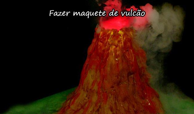 MAQUETE DE VULCÃO