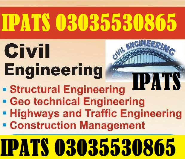 Civil Engineering Course IPATS Govt Recognized +923035530865,3219606785  Civil engineering course i