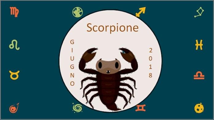 Oroscopo giugno 2018 Scorpione