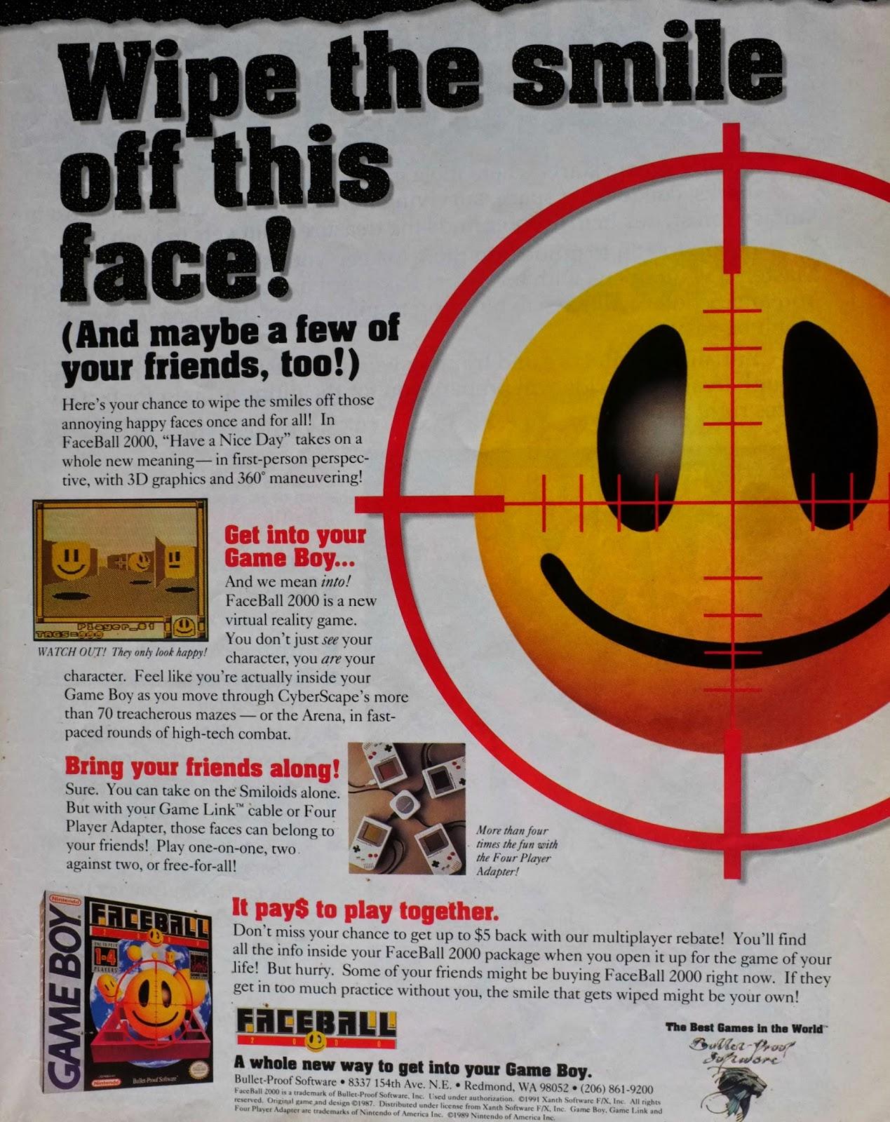 FaceBall 2000  advertisement
