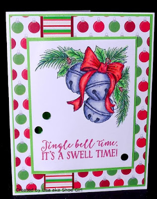 ODBD Jingle Bell Time, Card Designed by Lisa aka Shoe Girl