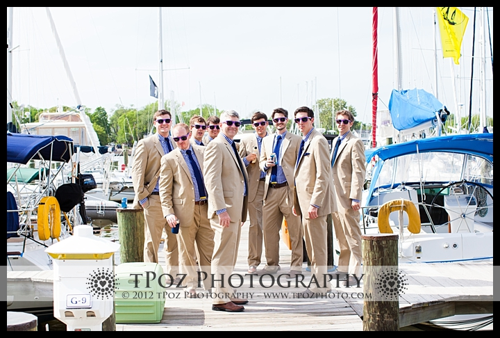 Bridal Party Portrait Port Annapolis Marina Wedding