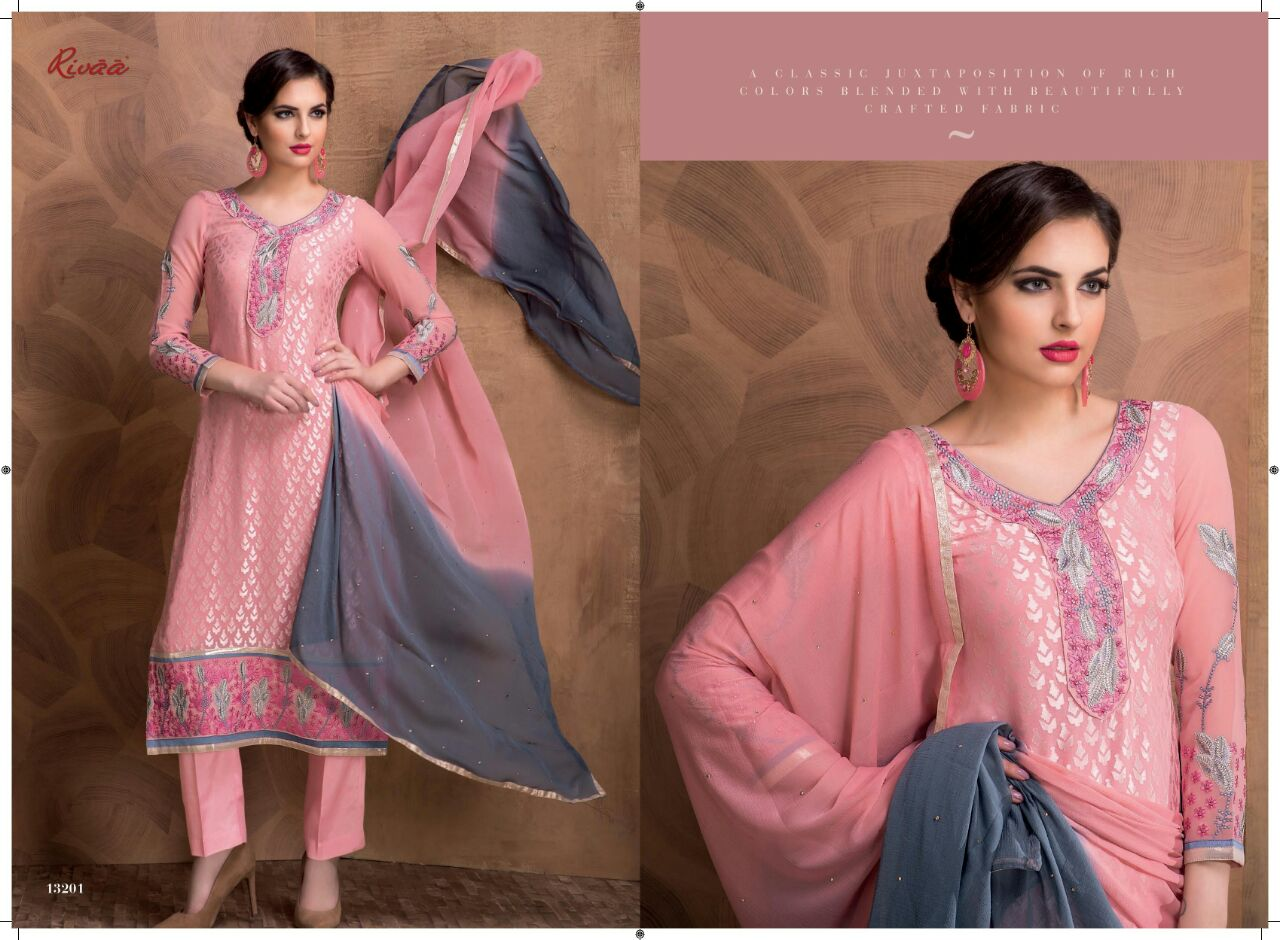 Hoor 3 – Georgette Brasso Latest New Salwar Suits Wholesale
