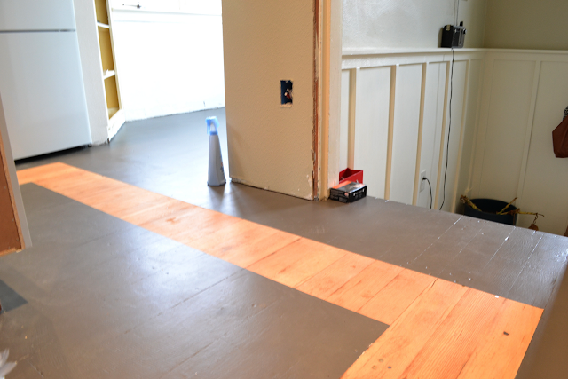 A Home In The Making: {renovate} How To Paint A Kitchen Floor