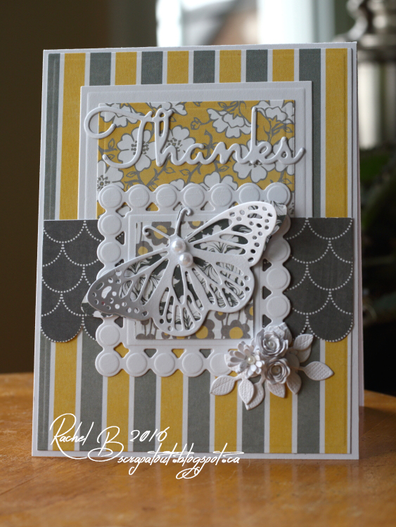Scrapatout - Handmade card, Thanks, Impression Obsession, Spellbinders, Flowers