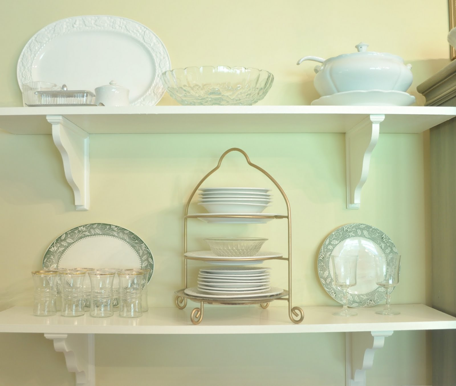 """Shelves In Dining Room: """"*The Heartfelt Home*"""" DIY,Sewing, Decorating, Crafts"""