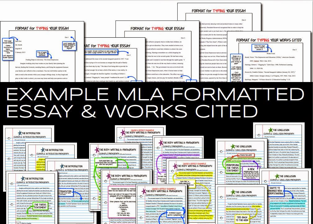 Examples of MLA Formatted Essays and Works Cited Pages