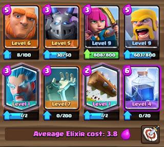 Battle Deck Giant dan Ice Wizard