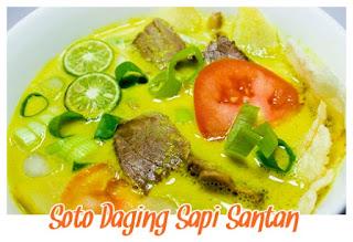 soto daging sapi santan