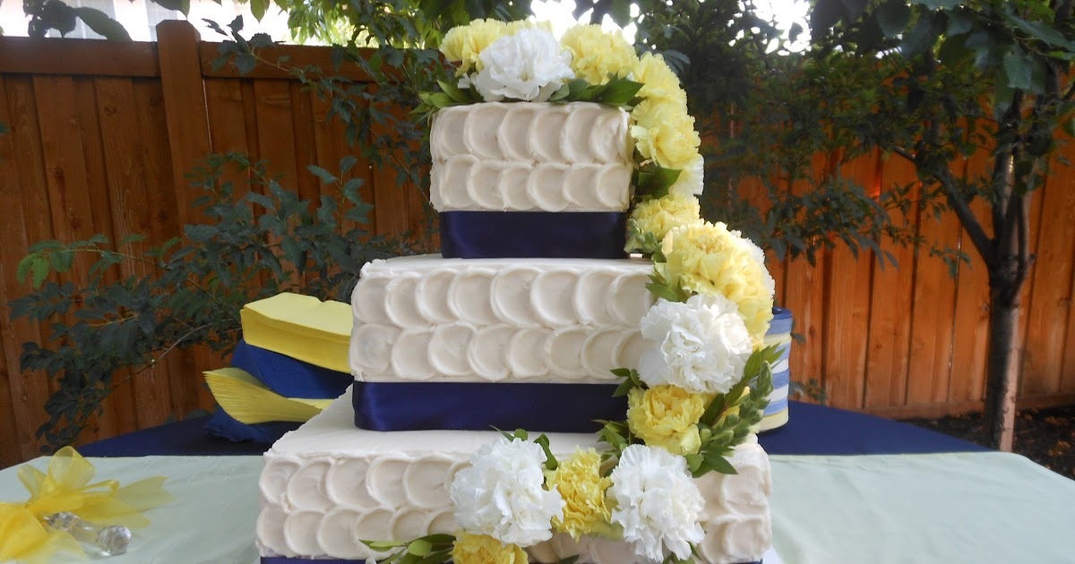 wedding cakes navy blue and yellow it s a of cake yellow and navy blue wedding cake 25069